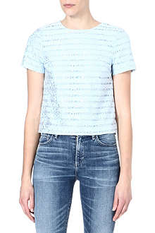 WAREHOUSE Cropped lace top