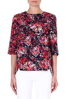 WAREHOUSE Floral print top