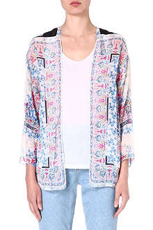 WAREHOUSE Scarf floral jacket