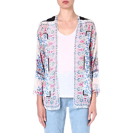 WAREHOUSE Scarf floral jacket (Multi