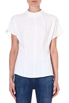 WAREHOUSE Roll-neck seamed top