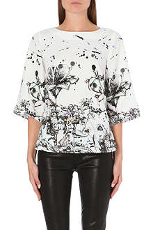 WAREHOUSE Border stencil floral top