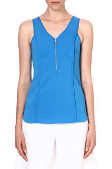 WAREHOUSE Piped zip front tunic top