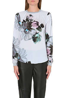 WAREHOUSE Oversized floral sweatshirt