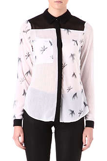 WAREHOUSE Mixed-print shirt