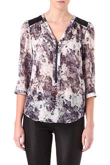 WAREHOUSE Floral-print blouse