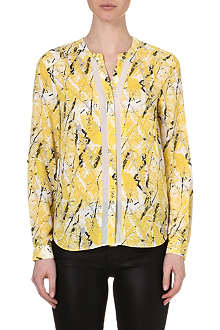 WAREHOUSE Texture print blouse