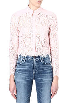 WAREHOUSE Cropped lace shirt