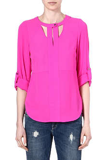 WAREHOUSE Cutout neck blouse