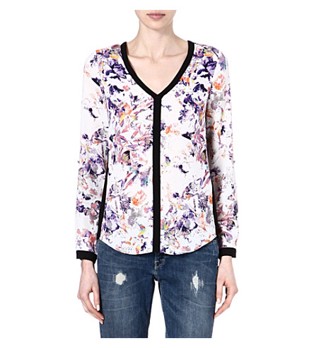 WAREHOUSE Pretty bird floral blouse (Multi
