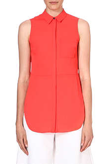 WAREHOUSE Pleat back sleeveless top