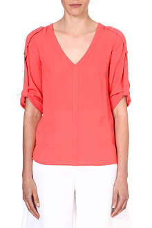WAREHOUSE Tab sleeve blouse