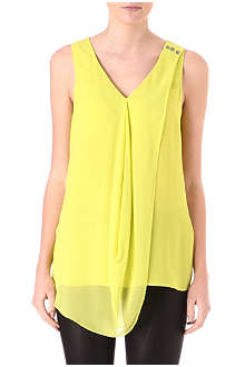 WAREHOUSE Oversized double-layer vest top