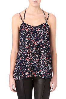 WAREHOUSE Fluro animal-print camisole