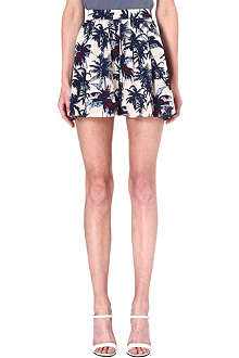 WAREHOUSE Palm print shorts