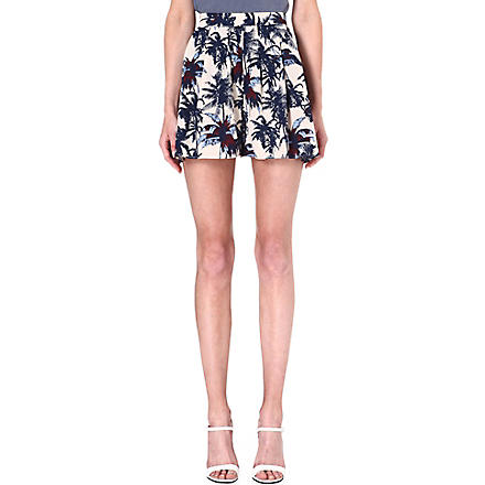 WAREHOUSE Palm print shorts (Multi