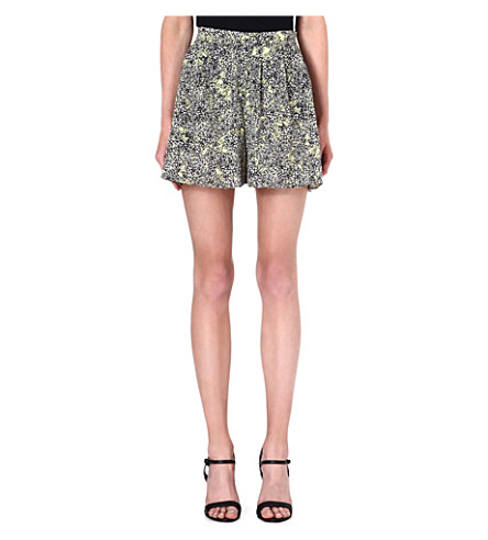 WAREHOUSE Blossom print shorts (Yellow