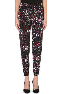 WAREHOUSE Scratchy texture print trouser