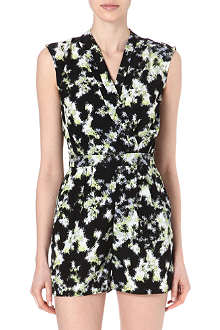 WAREHOUSE Blurred neon print playsuit