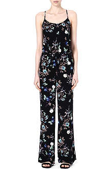 WAREHOUSE Dark floral jumpsuit