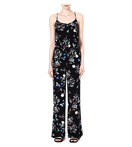 WAREHOUSE Dark floral jumpsuit (Multi