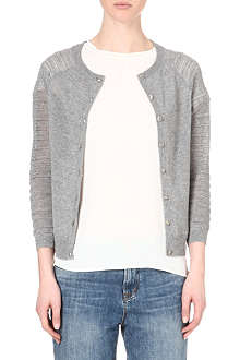 WAREHOUSE Ribbed sleeve cardigan