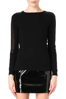 WAREHOUSE Sequin-embellished jumper