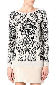 WAREHOUSE Jacquard-pattern jumper