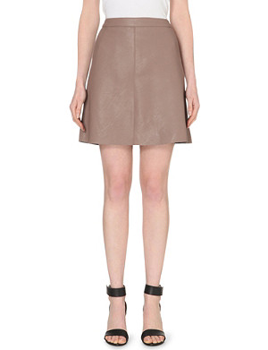 WAREHOUSE Faux leather pocket skirt