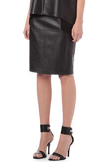 WAREHOUSE Faux-leather skirt