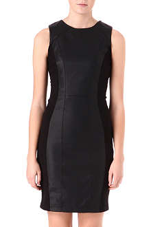 WAREHOUSE Faux-leather bodycon dress