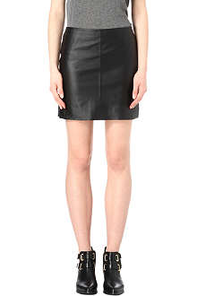 WAREHOUSE Pelmet leather skirt
