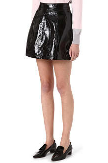 WAREHOUSE Glossy leather-look skirt