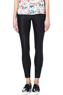 WAREHOUSE Faux-leather leggings