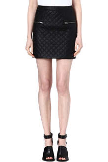 WAREHOUSE Quilted faux leather skirt