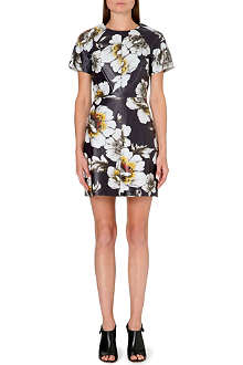 WAREHOUSE Printed leather dress