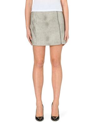 WAREHOUSE Biker faux-leather skirt