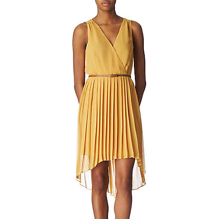 OASIS Pleated dress (Ochre
