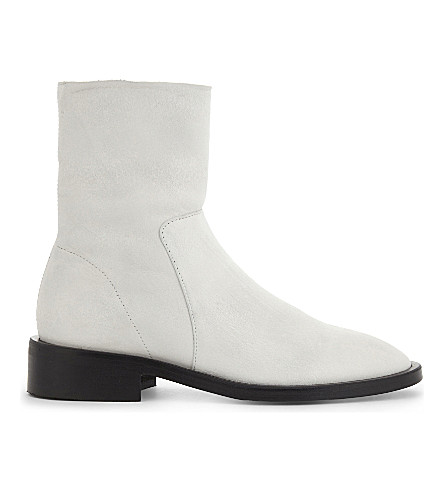 TOPSHOP Artichoke leather boots (White