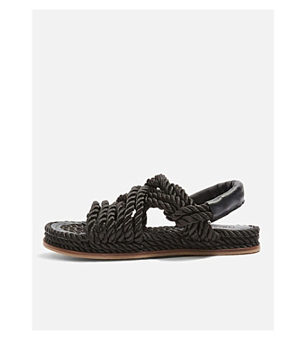 TOPSHOP Fiesta rope sandals (Black