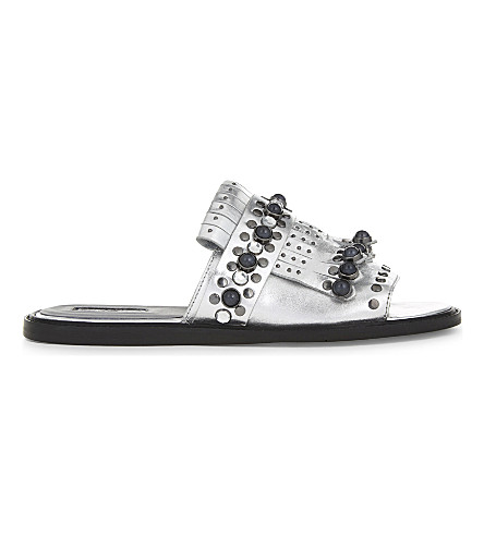 TOPSHOP Flaming fringe sandals (Silver