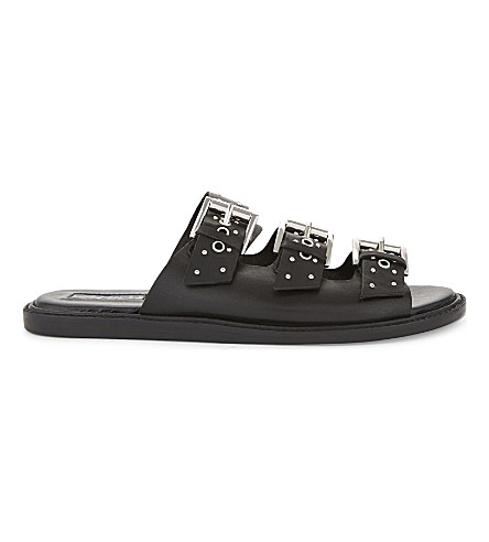 TOPSHOP Famous studded leather sandals (Black