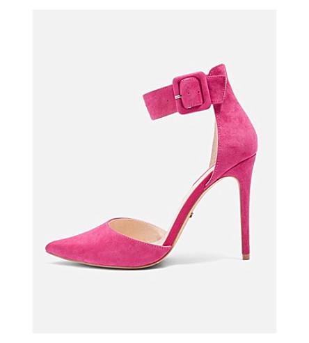 TOPSHOP Grace suede pointed heels (Pink