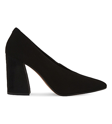TOPSHOP Gina suede courts (Black