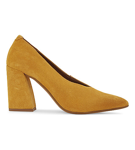 TOPSHOP Gina suede courts (Mustard