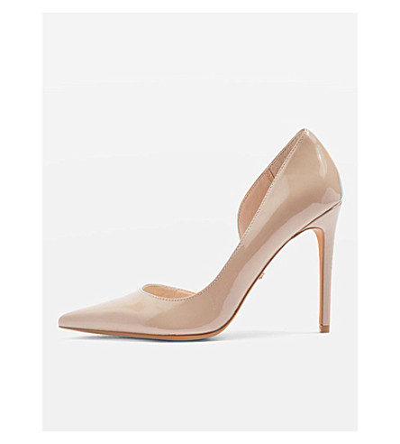 TOPSHOP Gallery d'Orsay heeled courts (Nude