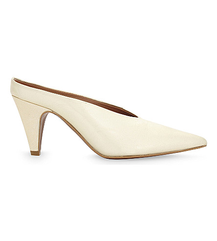 TOPSHOP Juicy leather mules (Gold