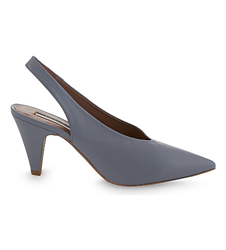 TOPSHOP Jemma leather slingback courts (Blue