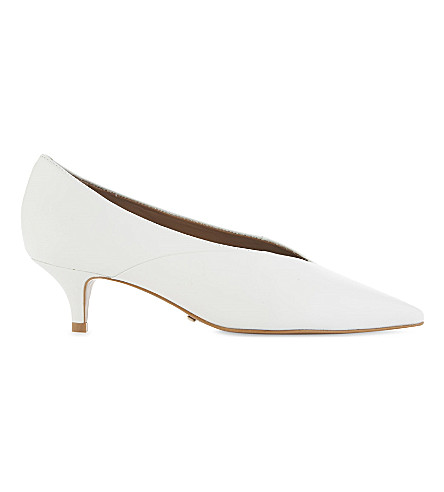 TOPSHOP Jackie leather courts (White