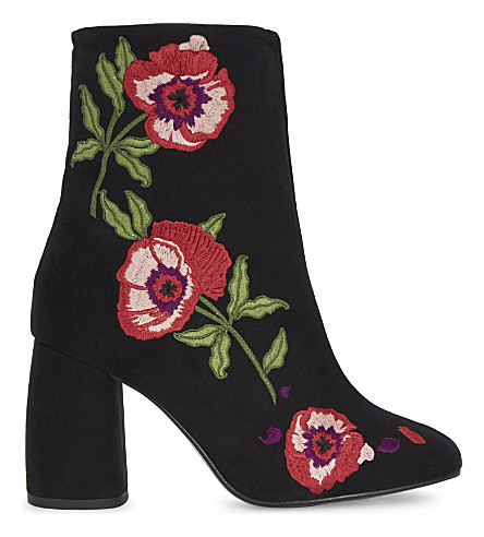 TOPSHOP Madame floral suede ankle boots